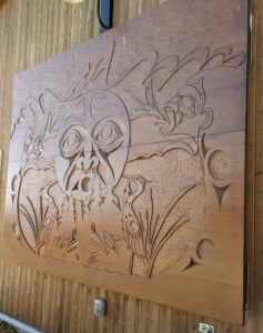 First Nations Wall Carving